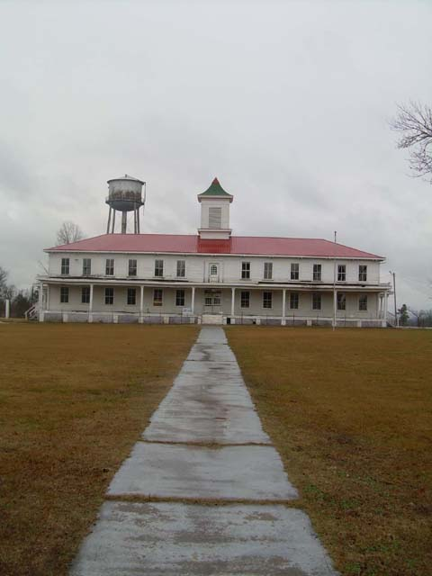 Wheelock Academy, the first school established by the Choctaws after their removal to Indian Territory (Oklahoma), is now a National Historic Landmark. The old administration building, built in the 1880s, still stands.