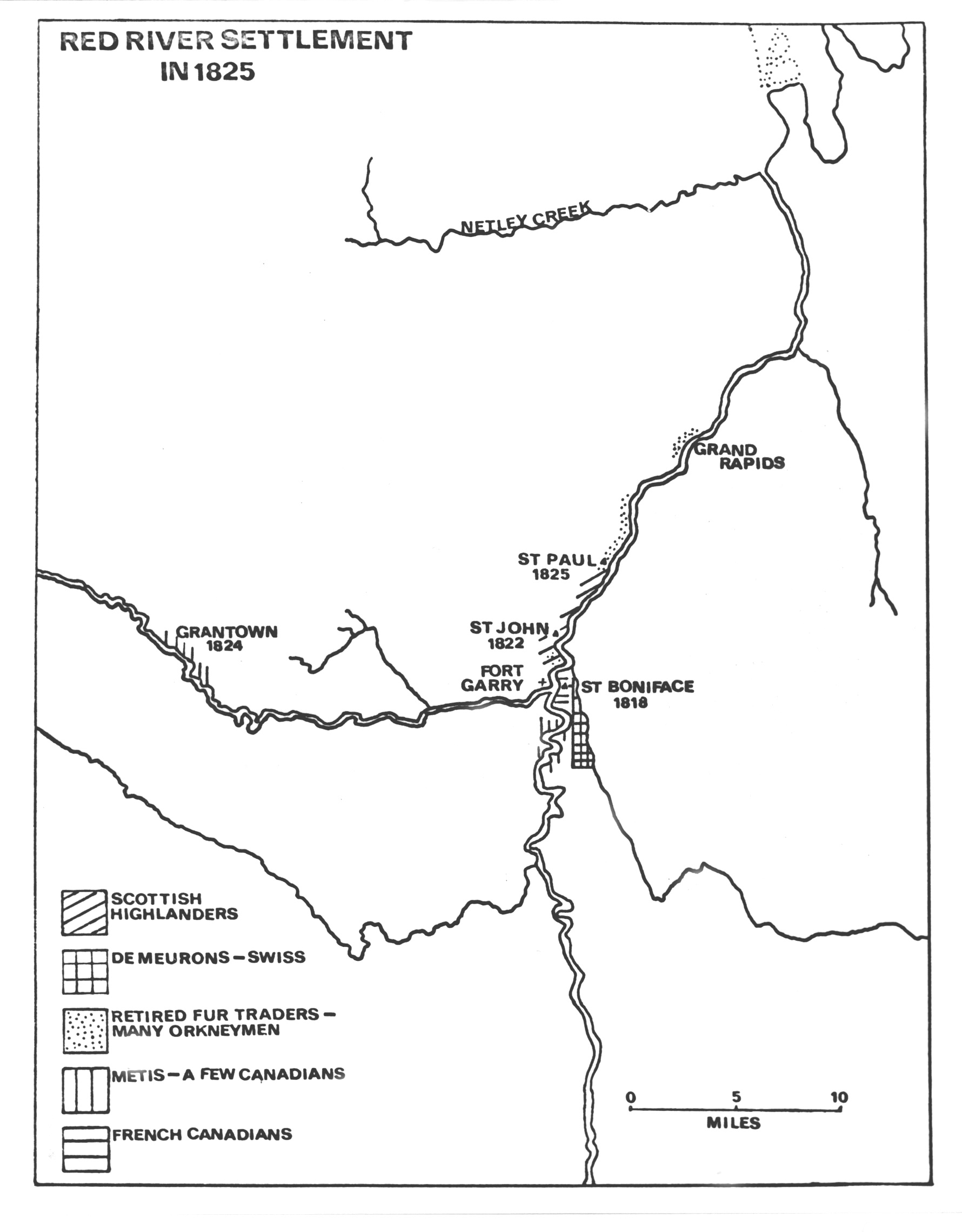 Red River Of The North Map : river, north, River, Settlement, North, Heritage