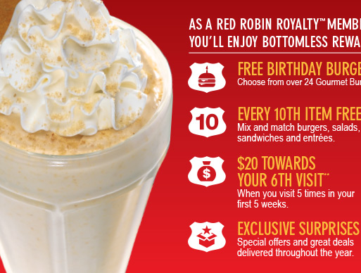 Red Robin Royalty™ Member Free Birthday Burger