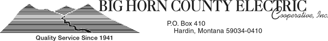 Big Horn Electric Cooperative, Inc.