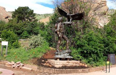 Setting for new John Denver statue, June 6, 2015.