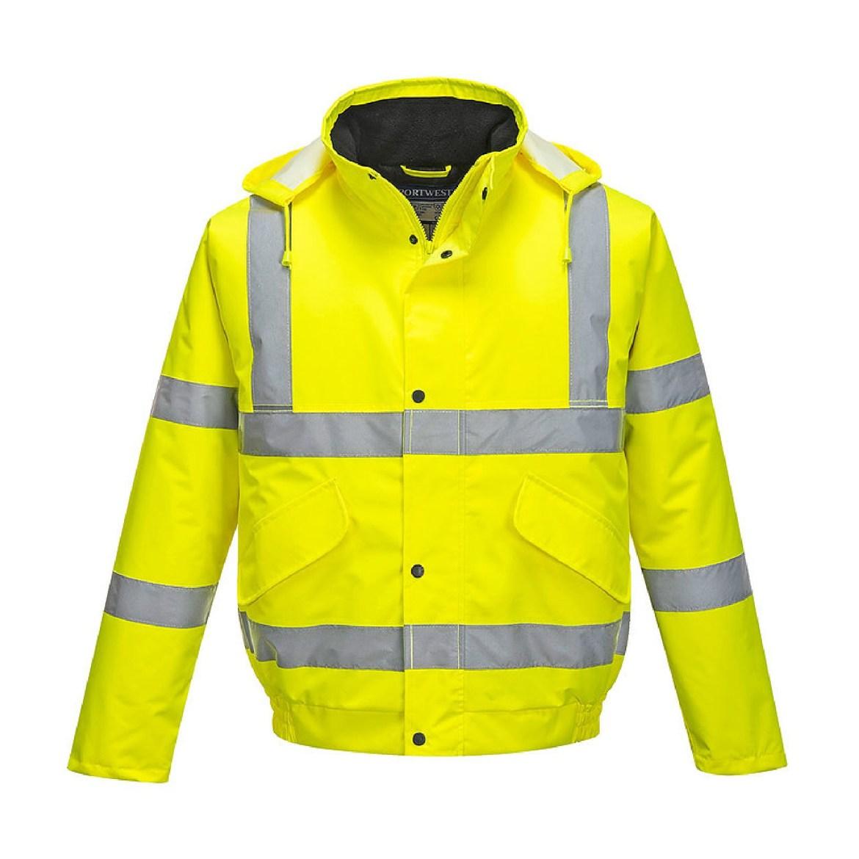 Redrok Workwear Centre - Plymouth - Hi-Vis Bomber Jacket - Yellow