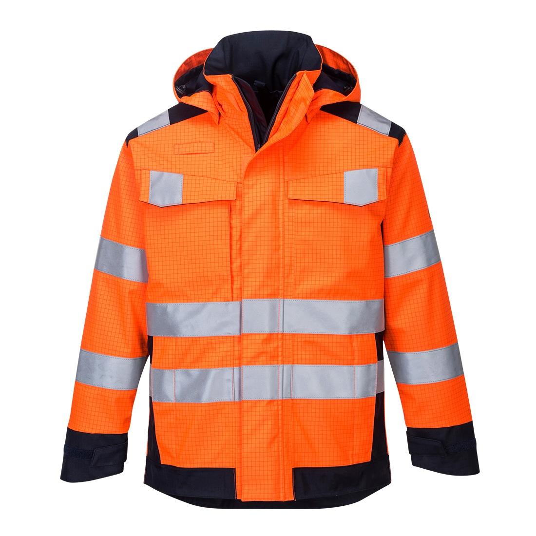 Portwest Modaflame Rain Jacket - Orange Front