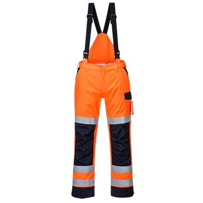 Portwest Modaflame Rain Trousers - Orange/Navy front