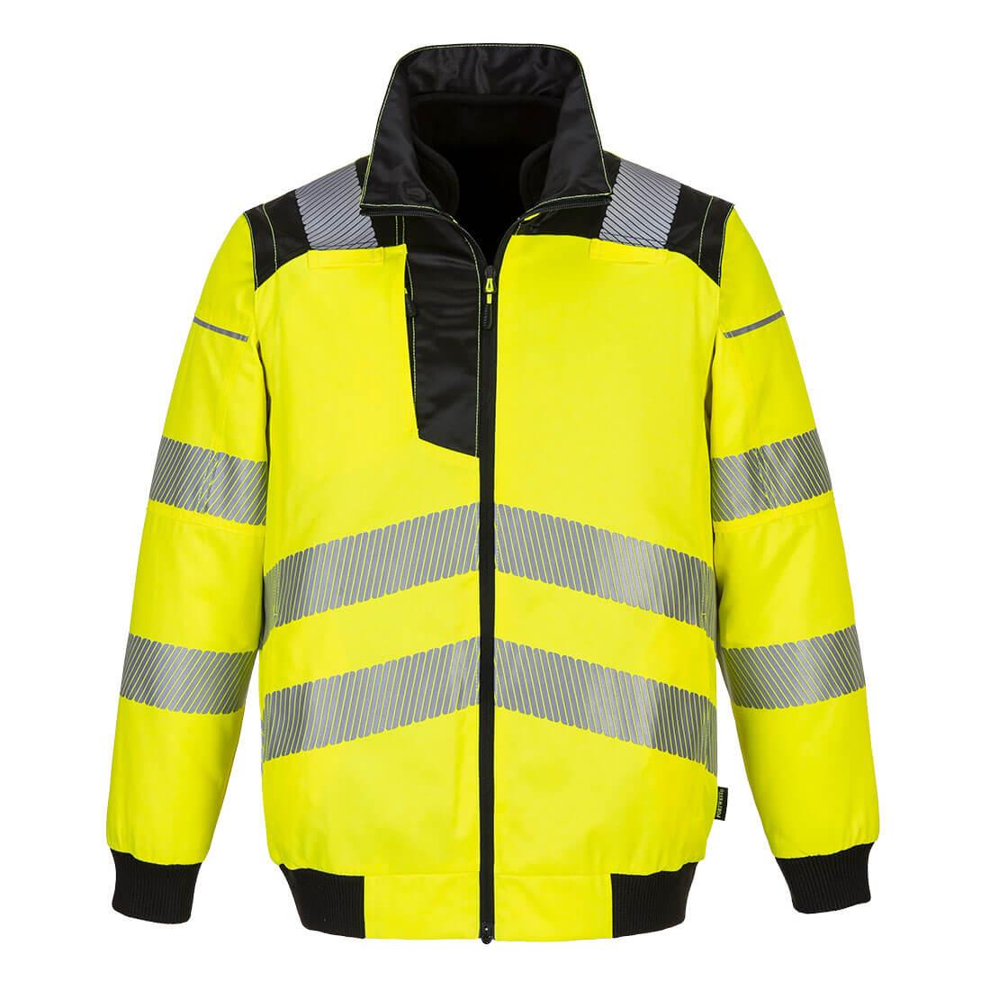 Portwest Hi-Vis Pilot Jacket - Yellow/Black