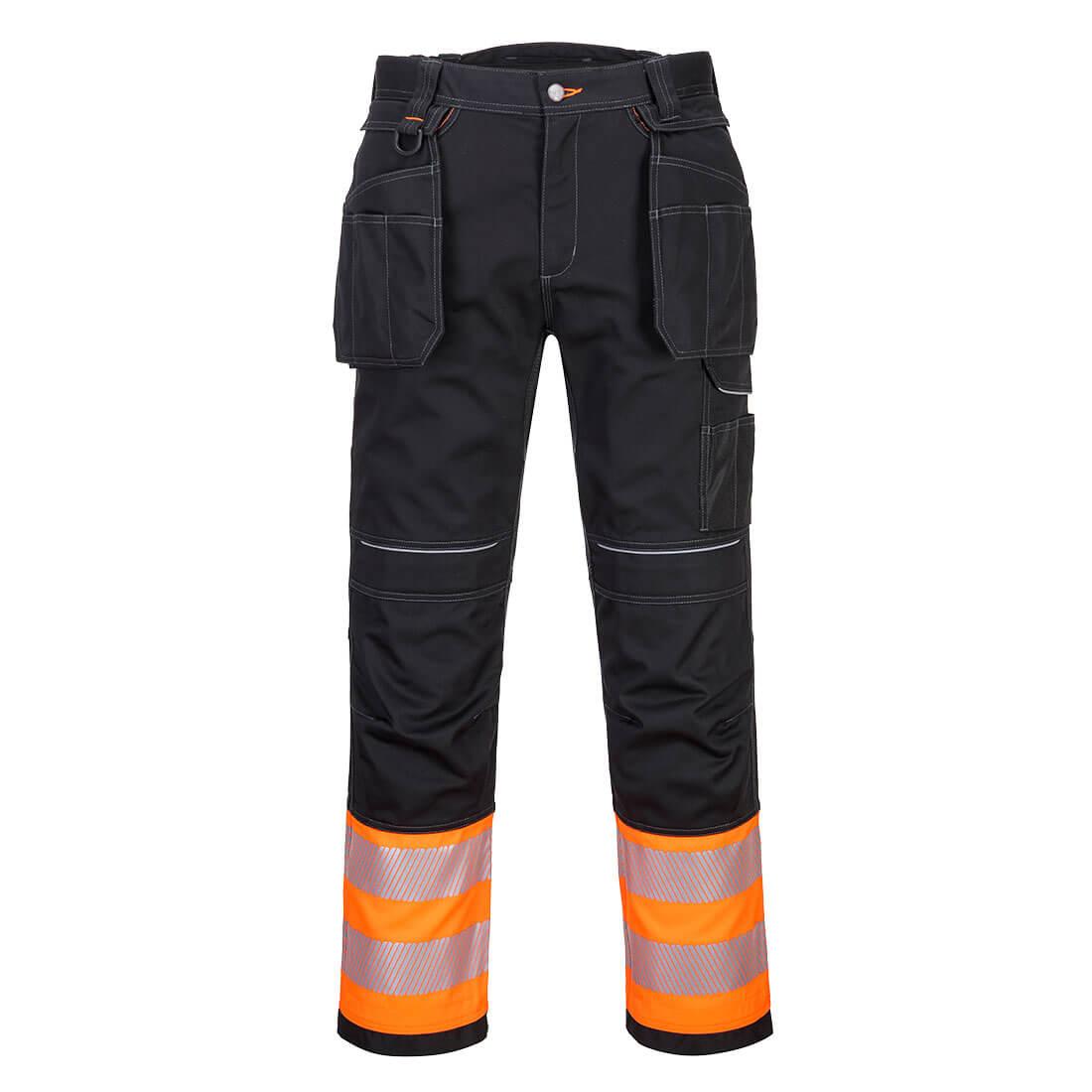 Portwest Hi-Vis Holster Trouser - Orange/Black