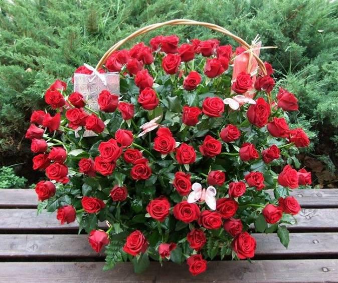 Korpa 101 ruža 5