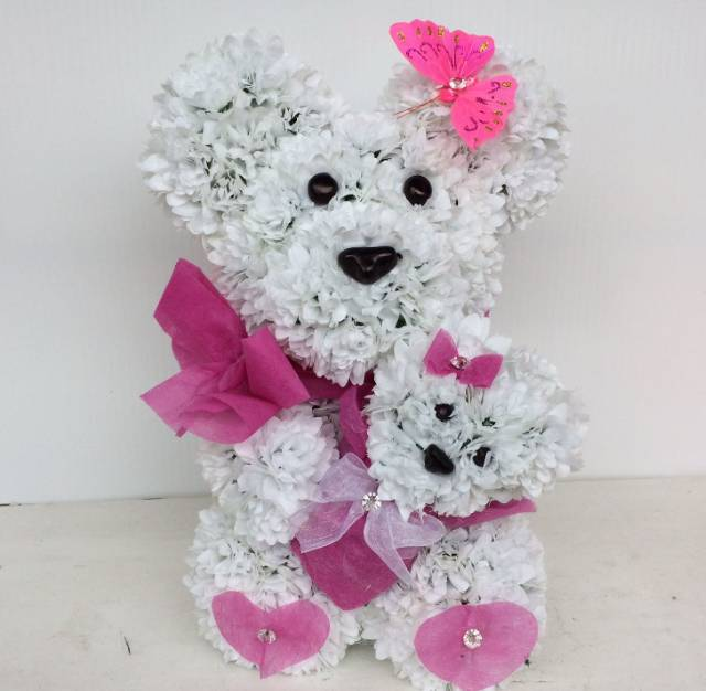 Mama medved od cveća