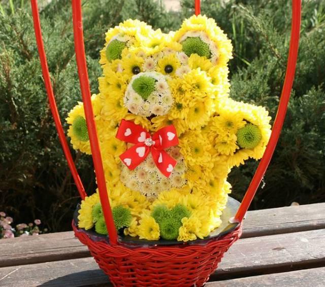 Žuti meda od cveća