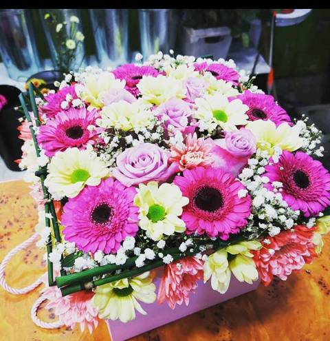 Box of flowers - Pink Mix