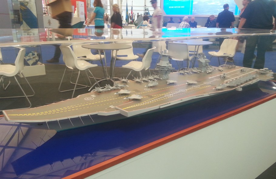 Model_aircraft_carrier_project_23000E_at_the_«Army_2015»_3