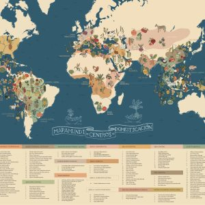 mapa de centros de domesticación Red Guardianes de Semillas Ecuador