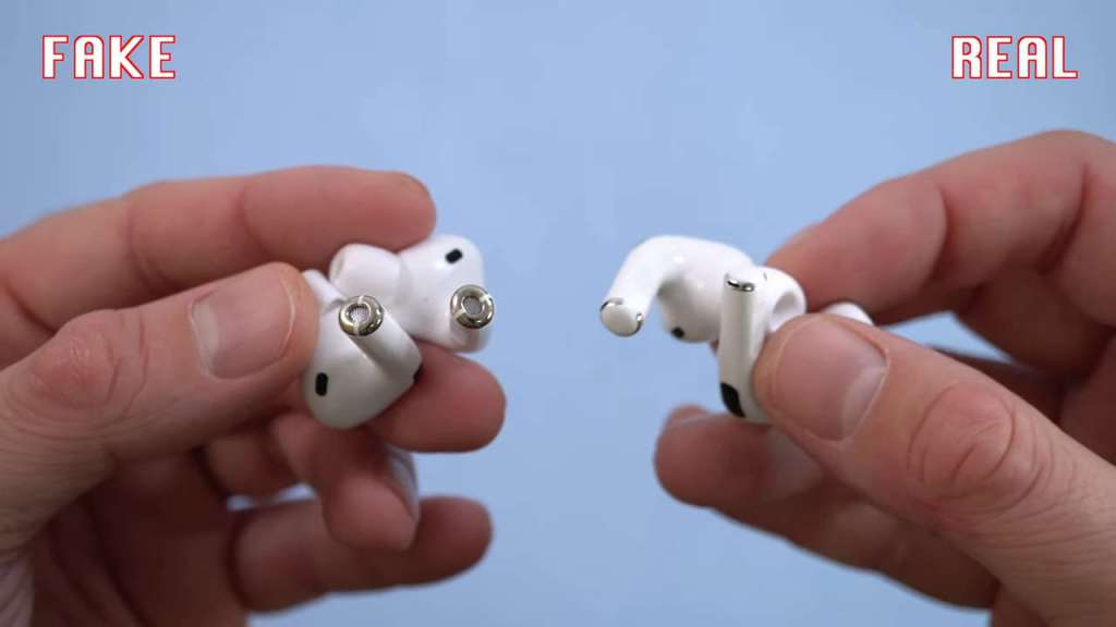 AirPods Pro: Fake vs Real AirPods Pro: Fake vs Real bottom white plastic