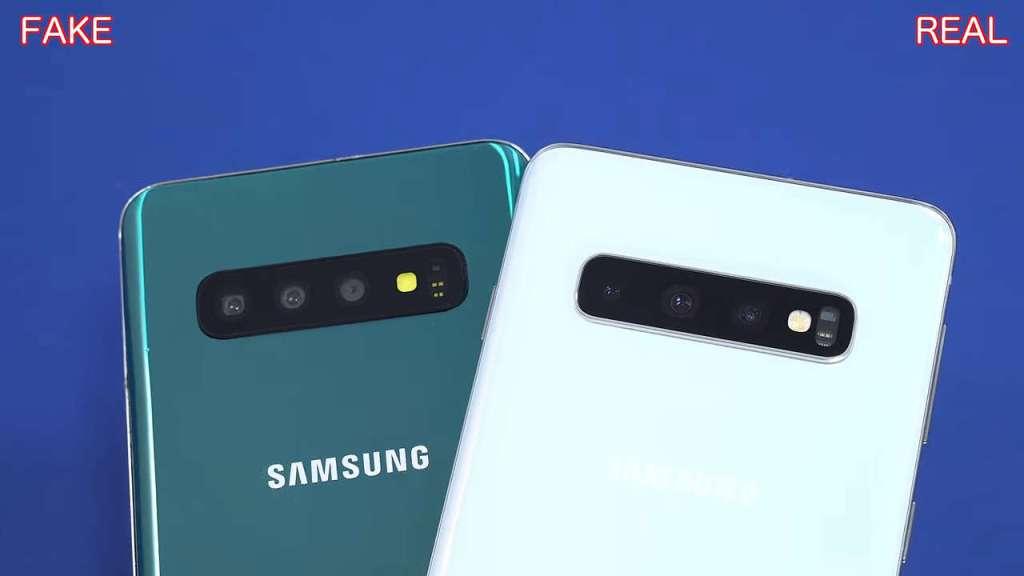 Samsung S10 fake camera vs original