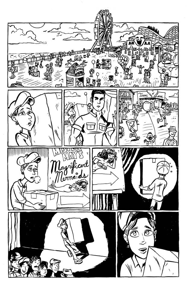 "Inked page from ""Clementine"", story by Ashley Leckwold, art by Jarrod Perez."