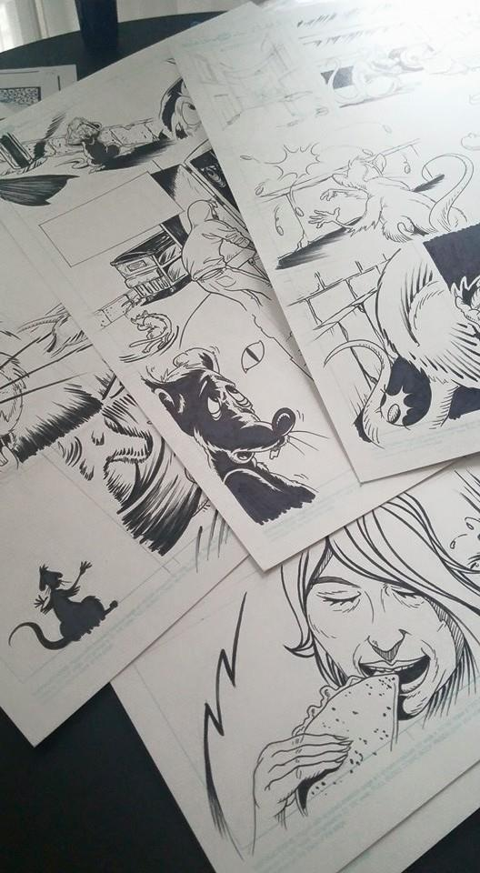 pages from story by Blake Armstrong and Alex Clark, inspired by Dave Alexander of The Stooges
