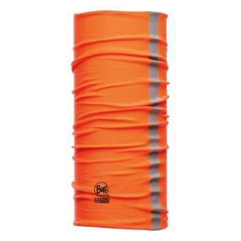 tubular multifuncional buff drycool reflective naranja fluor
