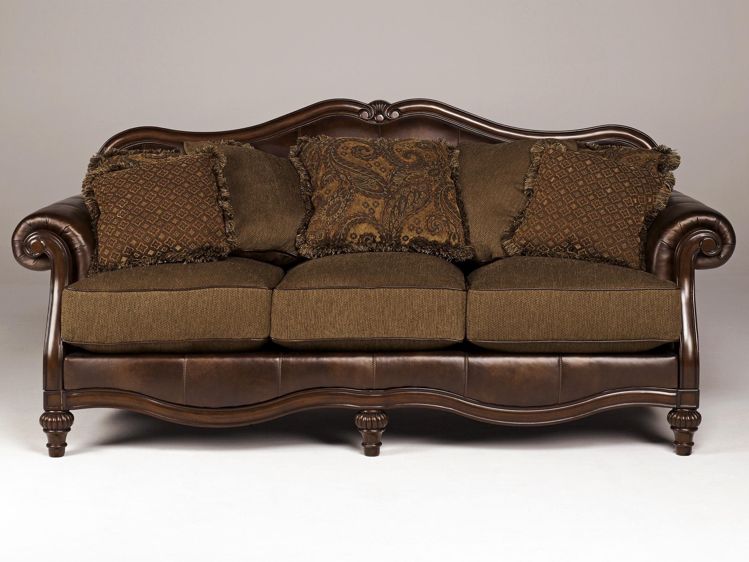 oak furniture sofa beds leather sectional richmond va antique bed 1905 15 empire mission style quartersawn
