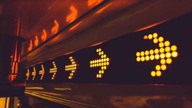 yellow arrow led signage