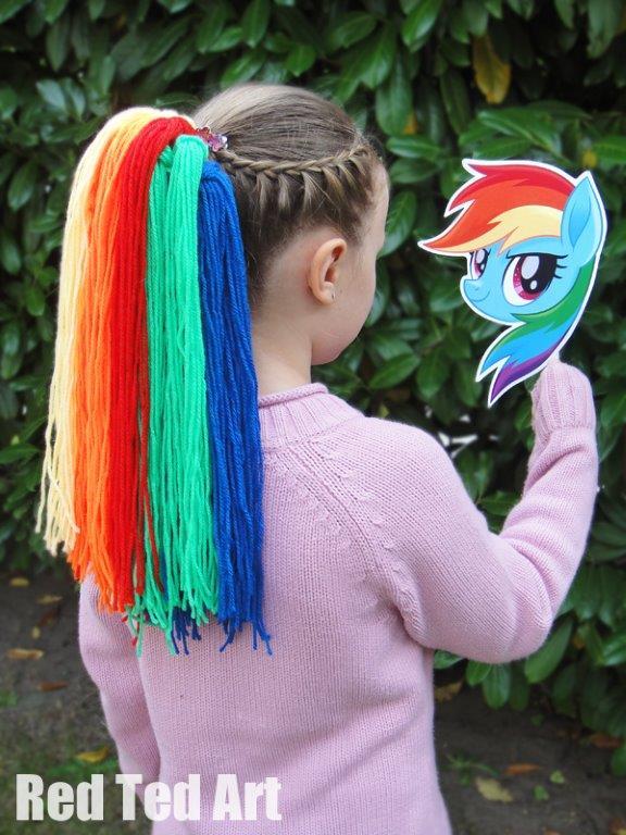 Rainbow Dash Hair : rainbow, Little, Pony:, Movie, Party, Craft, Crafting