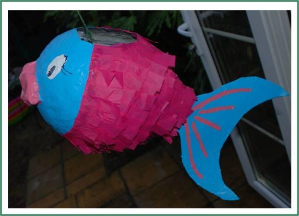 Make Paper Ch Piata Fish - Red Ted Art'