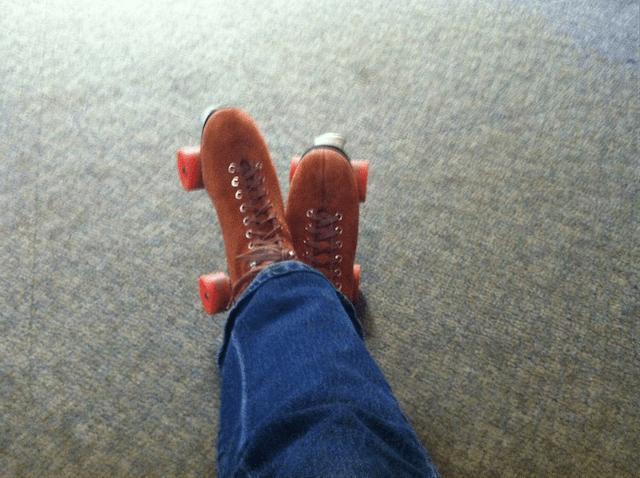 Like Brown Suede Rental Skates