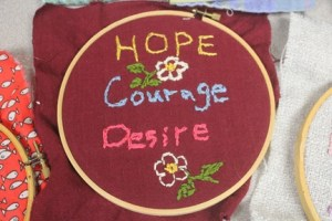 Hope, Courage, Desire Embroidery