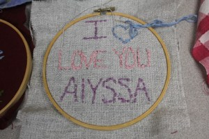 I Love You Alyssa Embroidery
