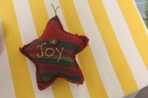 Joy Star-Shaped Mini Pillow