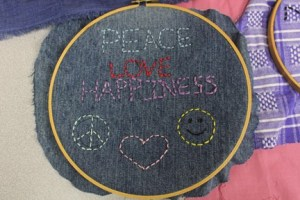 Peace Love Happiness Embroidery