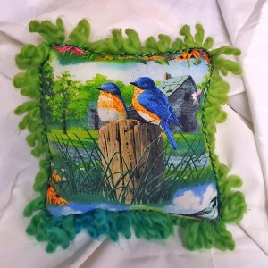 Blue Birds Square Pillow