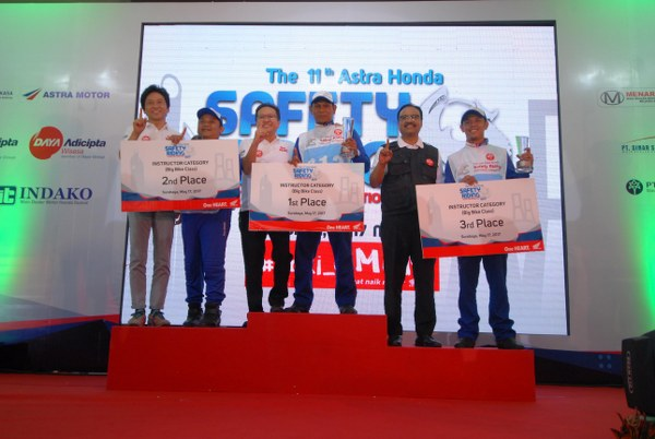 Pemenang Astra Honda Safety Riding Instructor Competition