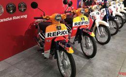 Detail Dari Honda Super Cub Yang Dipakai Marquez Dan Pedrosa