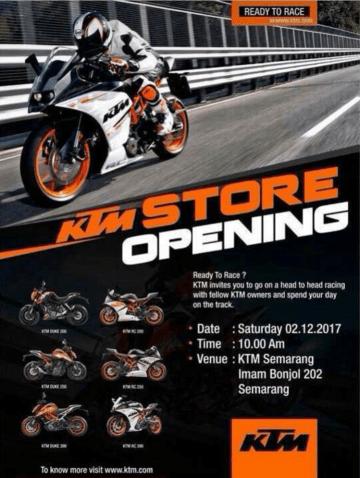 Peresmian Dealer KTM Semarang