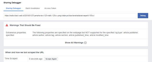 Cara Membetulkan Thumbnail Artikel yang Tidak Muncul di Facebook