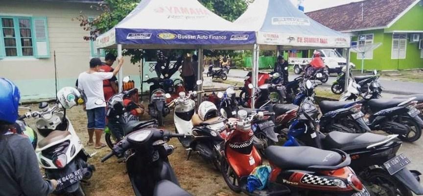 Sembako dan Servis Gratis Untuk Korban Banjir Muntok Dari Yamaha