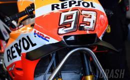 Repsol Honda Mencoba Fairing Baru