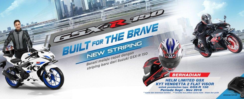Beli Suzuki GSX-R150 Sekarang Berhadiah Helm Full Face KYT