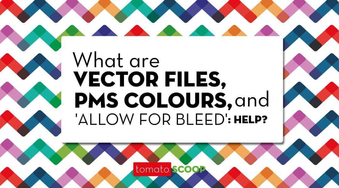 Vector Files, PMS Colours, and 'Allow for Bleed' : Help Me?