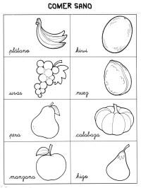 Ms De 25 Ideas Increbles Sobre Frutas Para Colorear En