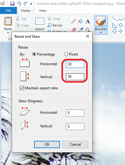 photo resize in ms paint - https://reducephotosize.com