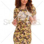Rochie MissQ Crowded Flowers Brown