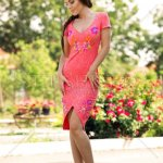 Rochie StarShinerS Brodata Crystal Coral