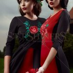 Rochie StarShinerS Brodata Rose Precious Red