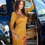 Rochie StarShinerS Brodata Rose Passion Gold