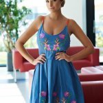 Rochie StarShinerS Brodata Ocean Blue