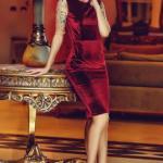 Rochie StarShinerS Brodata Theo Rose Royal Burgundy