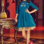 Rochie StarShinerS Brodata Theo Rose Girly Turquoise