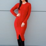 Rochie PrettyGirl Soft Notes Red