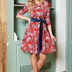 Rochie Artista Abstract Flowers Red